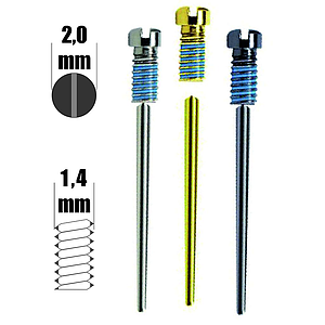 SnapIt screws 1,4mm thread H2,0mm