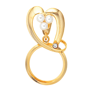 pin 3-way heart gold plated
