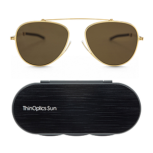 ThinOptics sun aviator brown