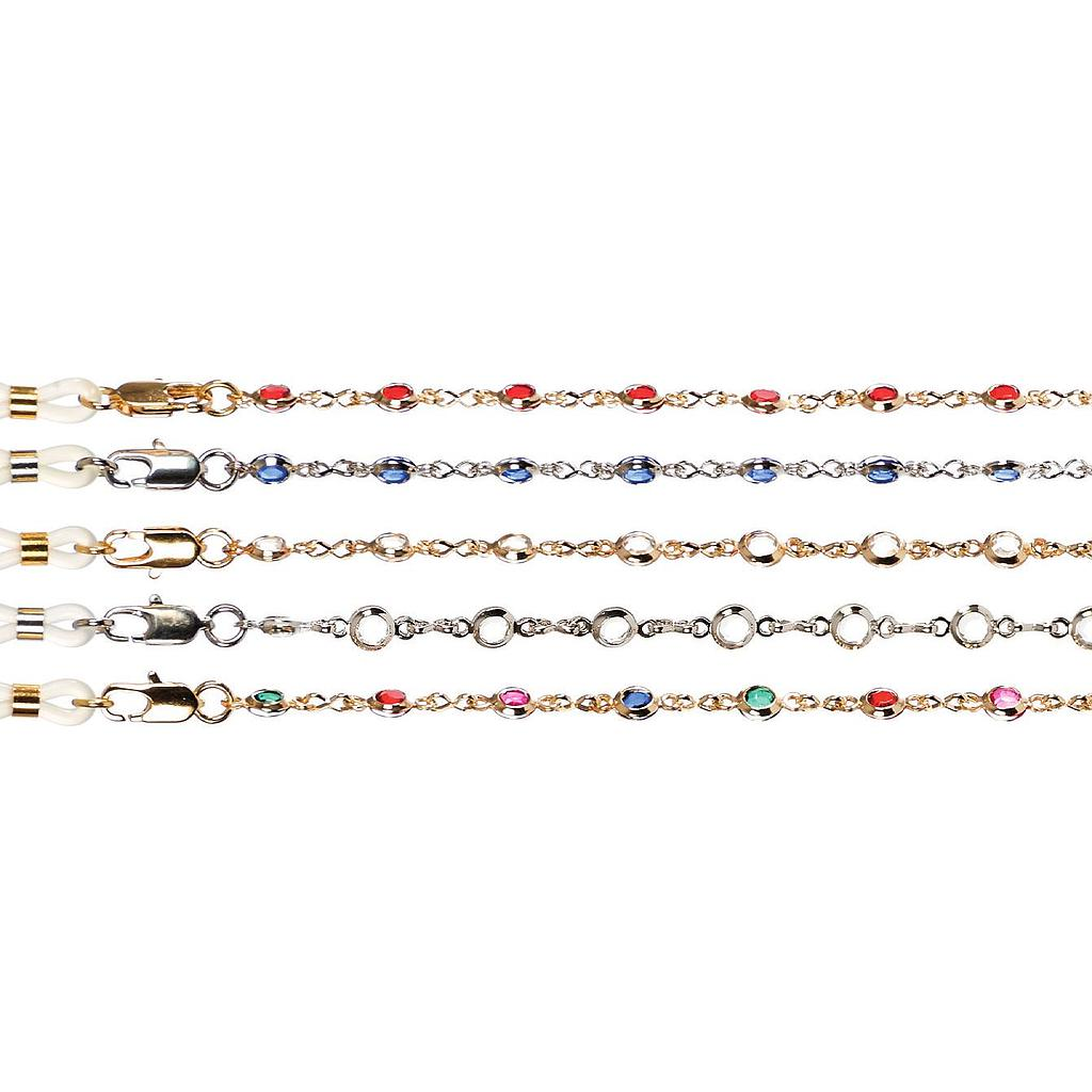 fine crystal stone chains set