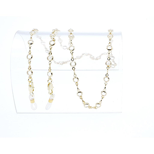 crystal stone chain gold plated