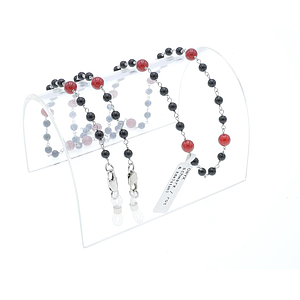 stone dream chain onyx black/red